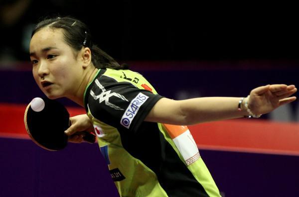 日本乒乓女 �喹�戒�浣�泪洒赛场:为了奥运资格,她们和队友拼命�]有表�F出��了
