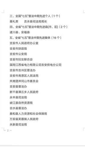"""喜报!吉安市妇联荣获全省""""七五""""普法中期先进集体"""