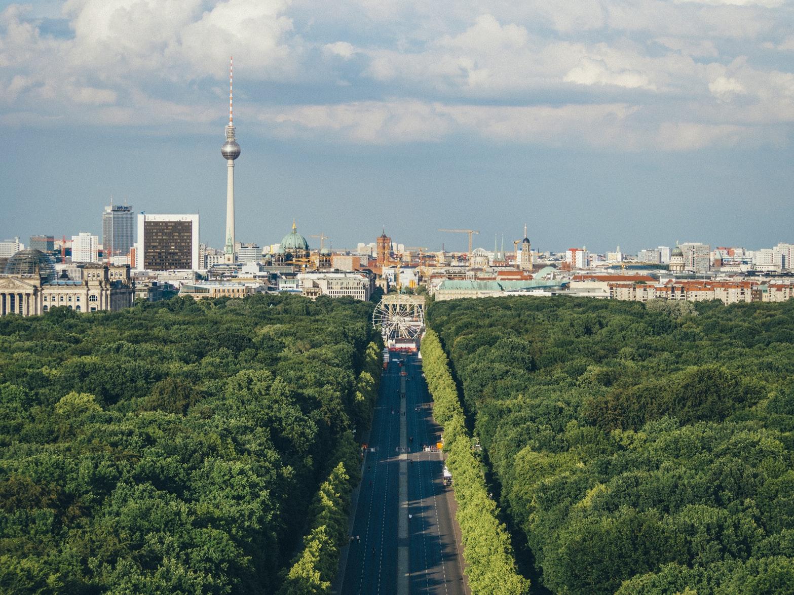柏林鸟瞰,图片来源:Unsplash