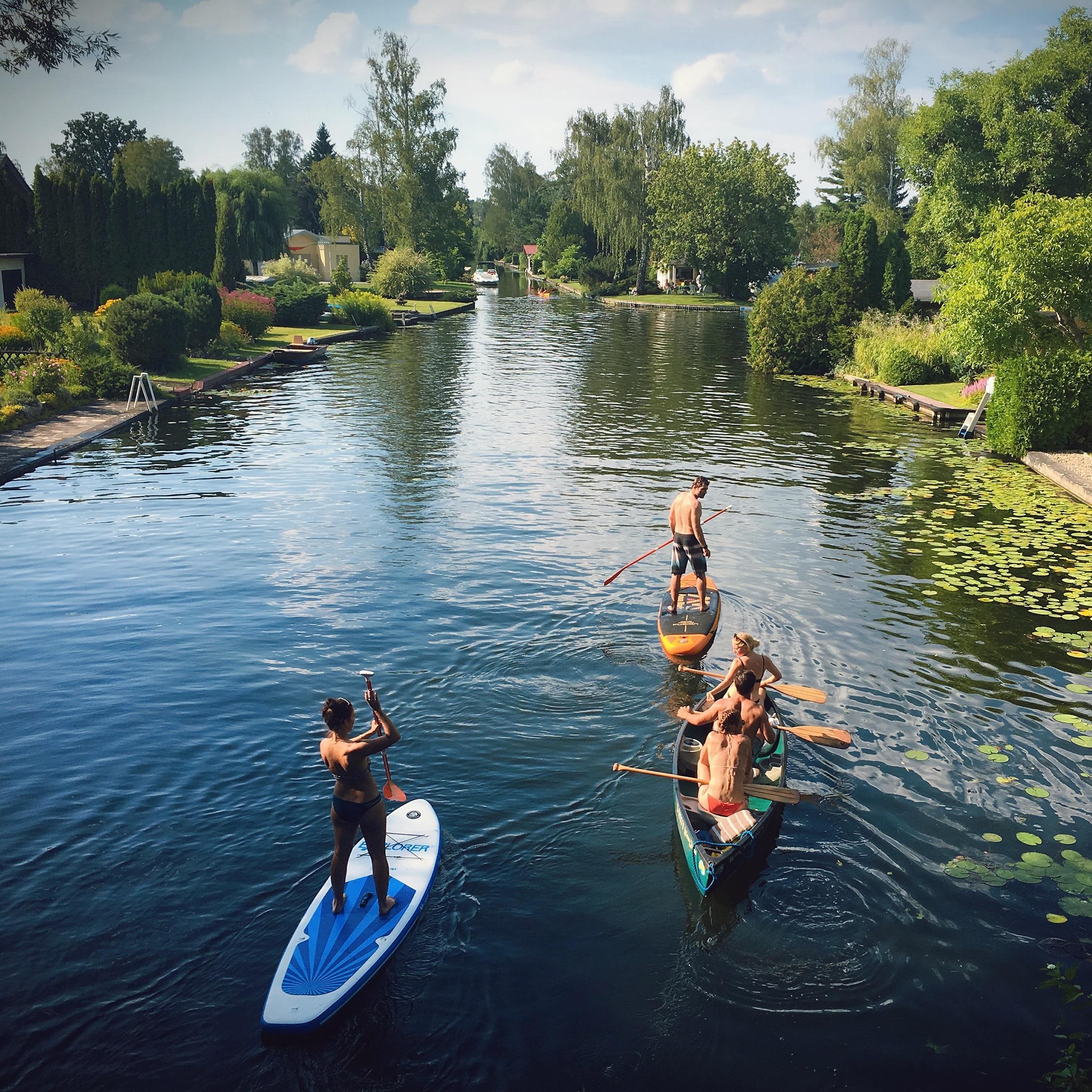 柏林郊区的运河有小威尼斯之称 作者图