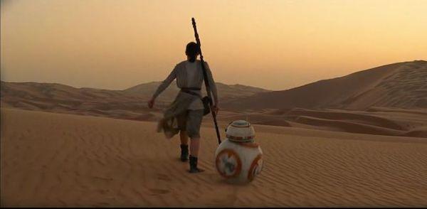 沙漠中的场景