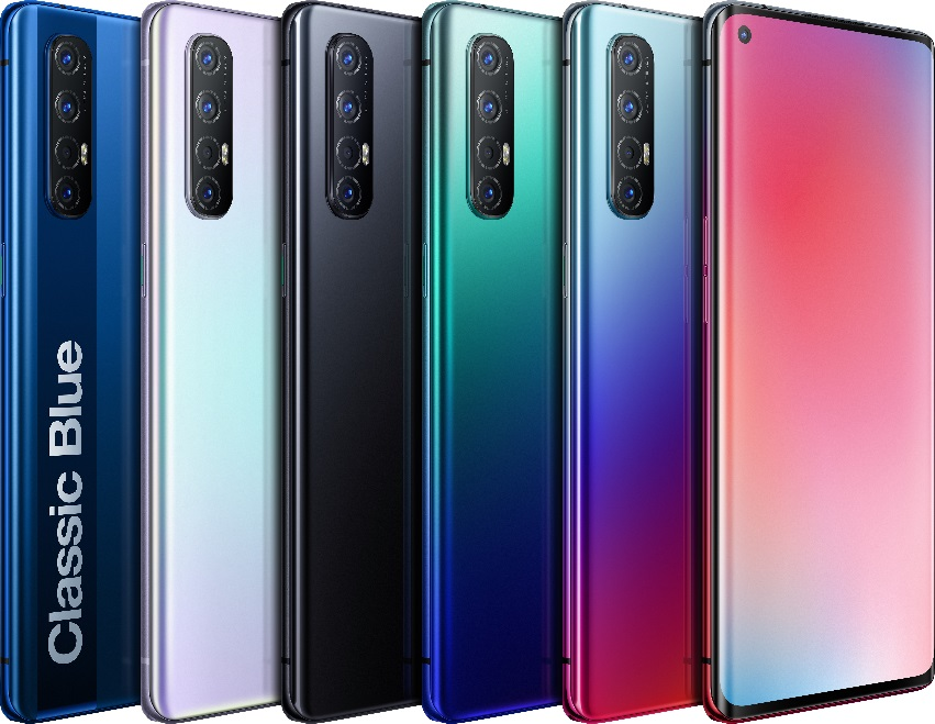 OPPO 首款5G双模手机Reno3系列产品。