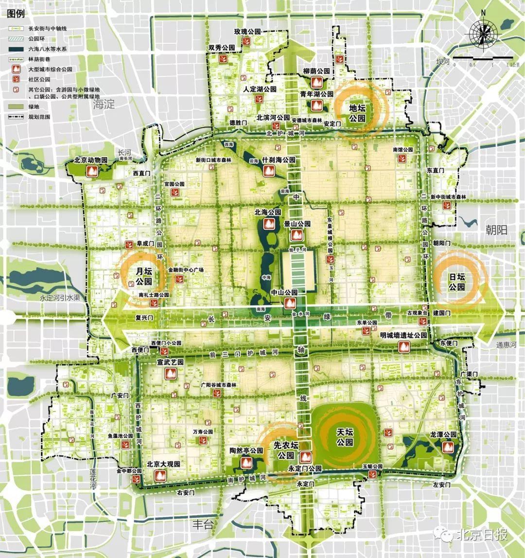 图2 蓝绿空间结构规划图。