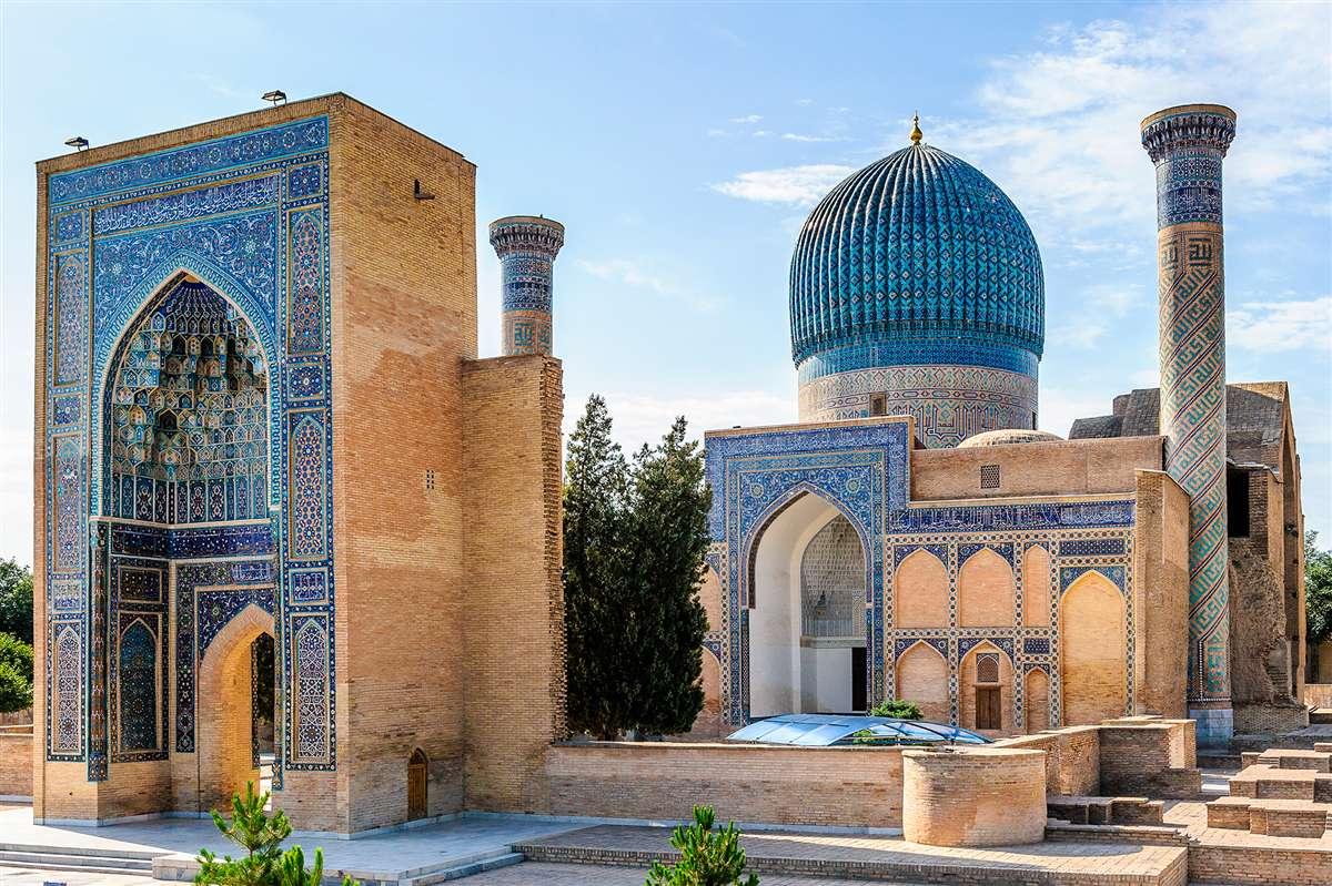 乌兹别克斯坦撒马尔罕的著名景点之一,古尔·埃米尔陵墓 资料图