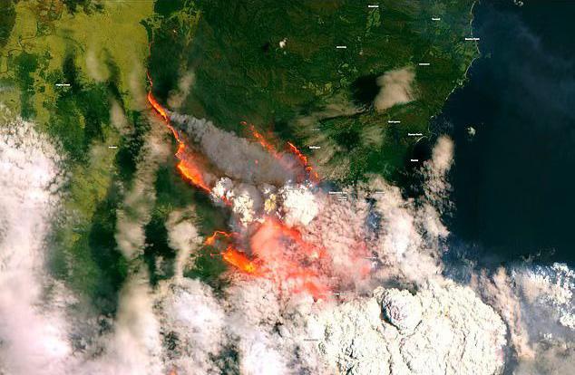 三处山火汇合面积与曼哈顿相当,澳大利亚军舰紧急疏散民众
