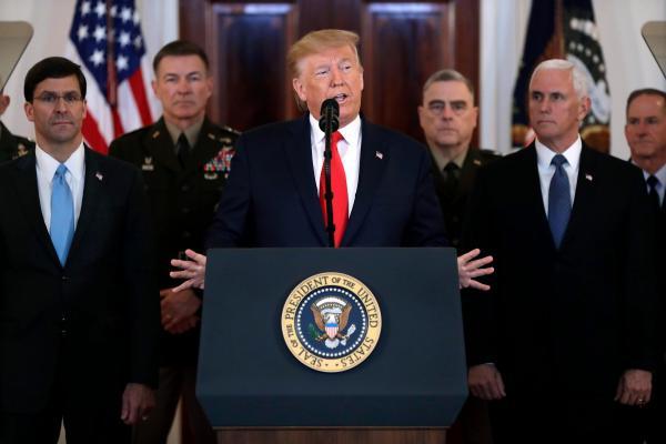 美军基地遭袭后特朗普发声明:无人伤亡,将对伊朗实施新制裁