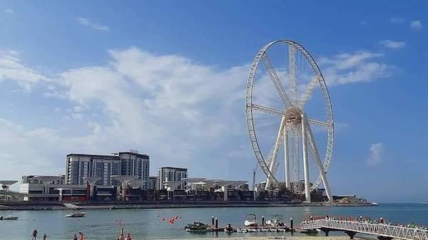 快要竣工的迪拜眼 迪拜旅游局 图
