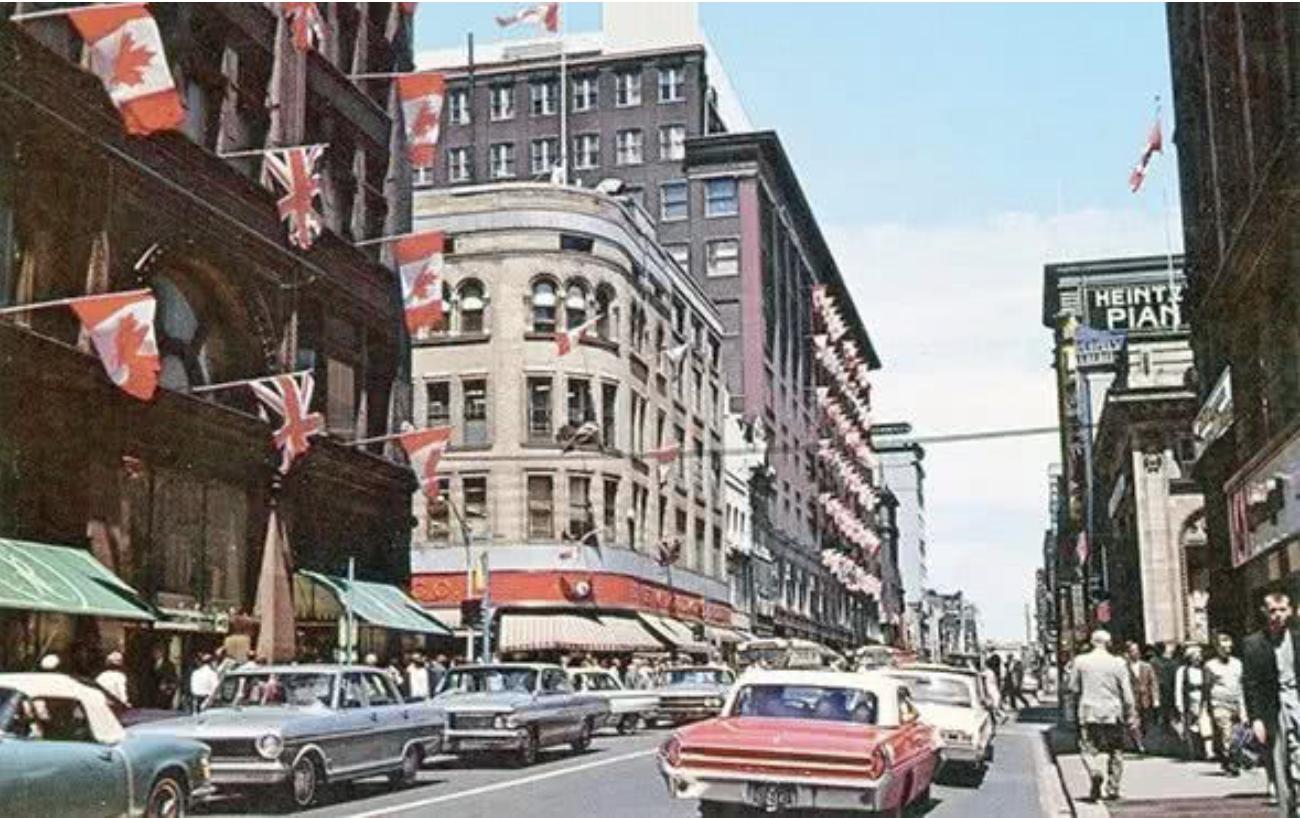1960年代的多伦多市中心,很像上海。