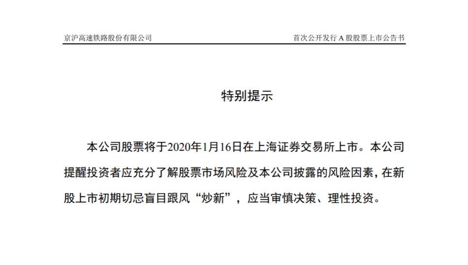 中国最赚钱高铁来了:京沪高铁将于1月16日登陆上交所