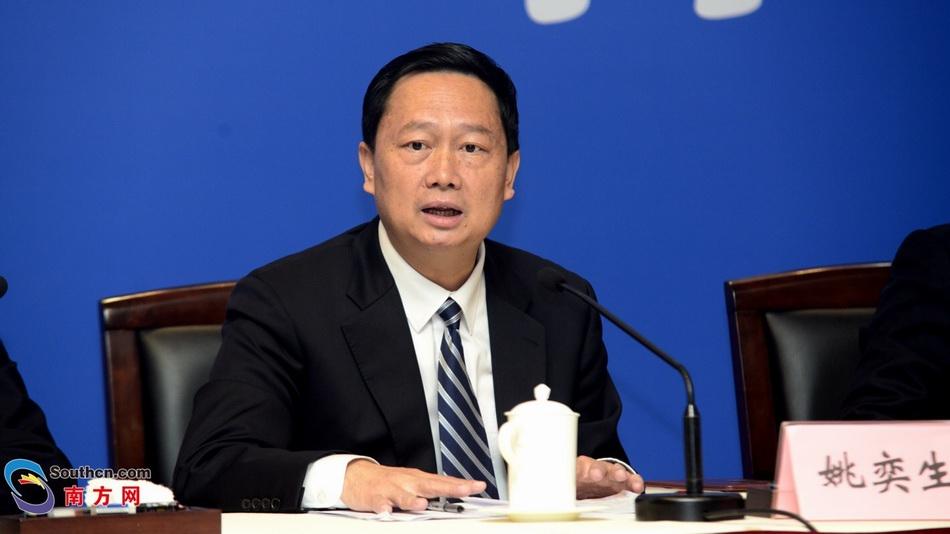 珠海市市长姚奕生在发布会上。