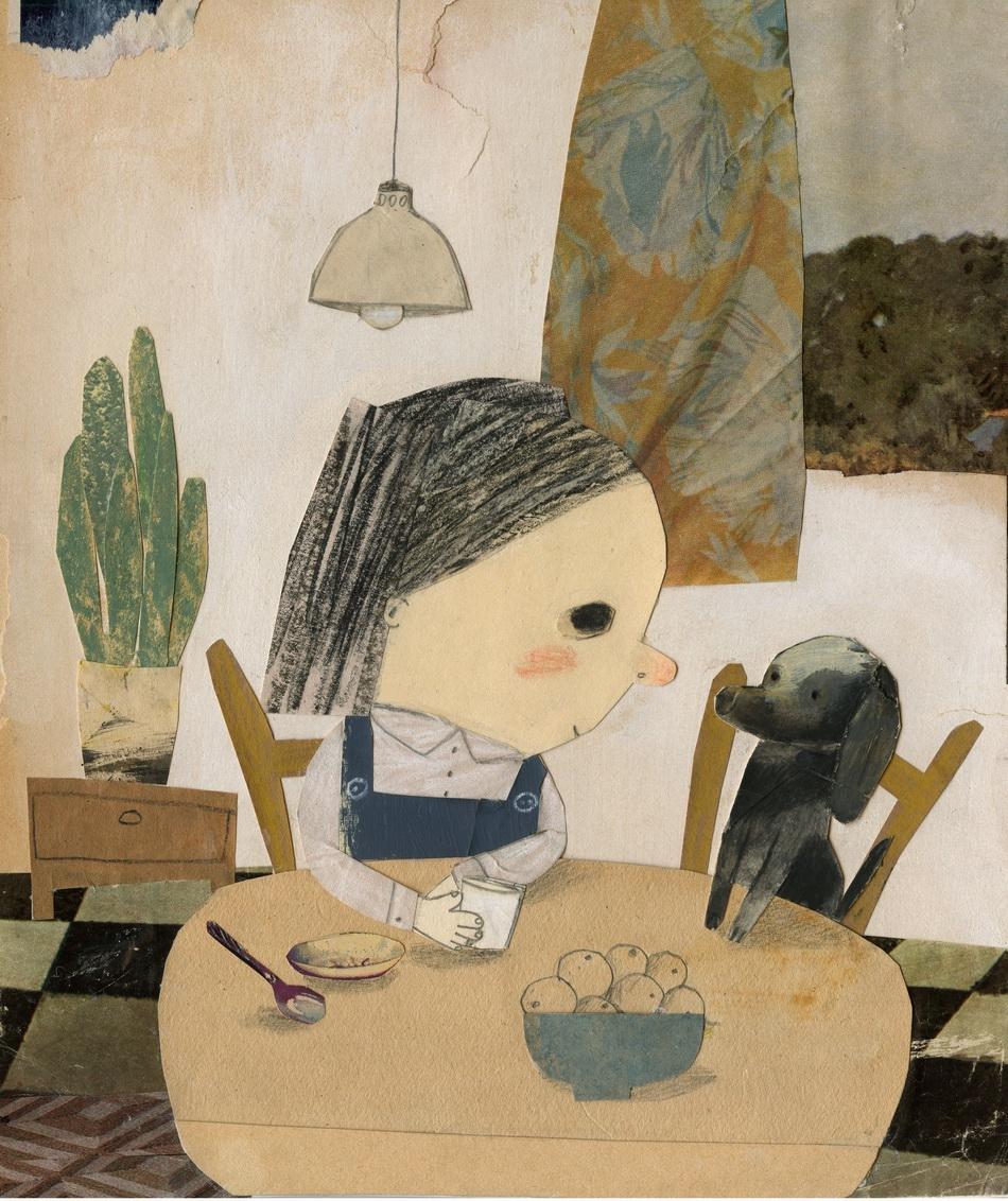 玛侬·高蒂尔 加拿大系列作品《我的小时候》拼贴画2017年度大奖。