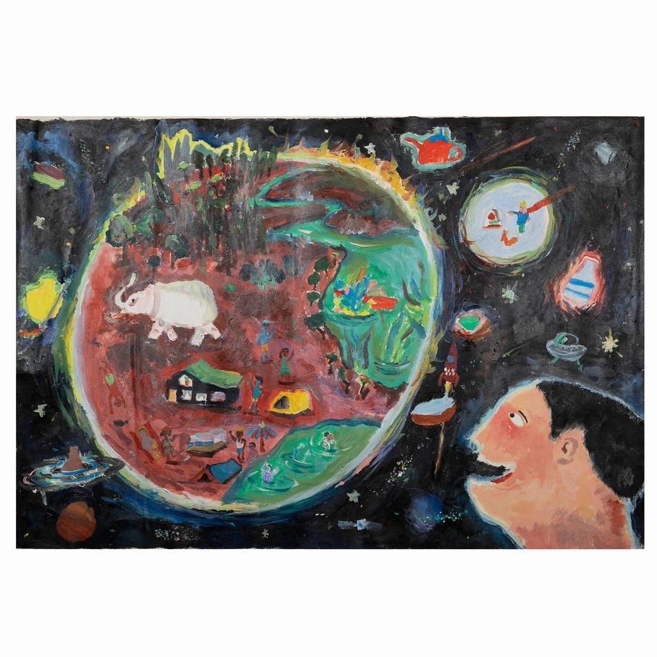 唐翊斐陶瓷星球《纸窑》丙烯、综合材料2019年度公众组(11岁以下组别)一等奖