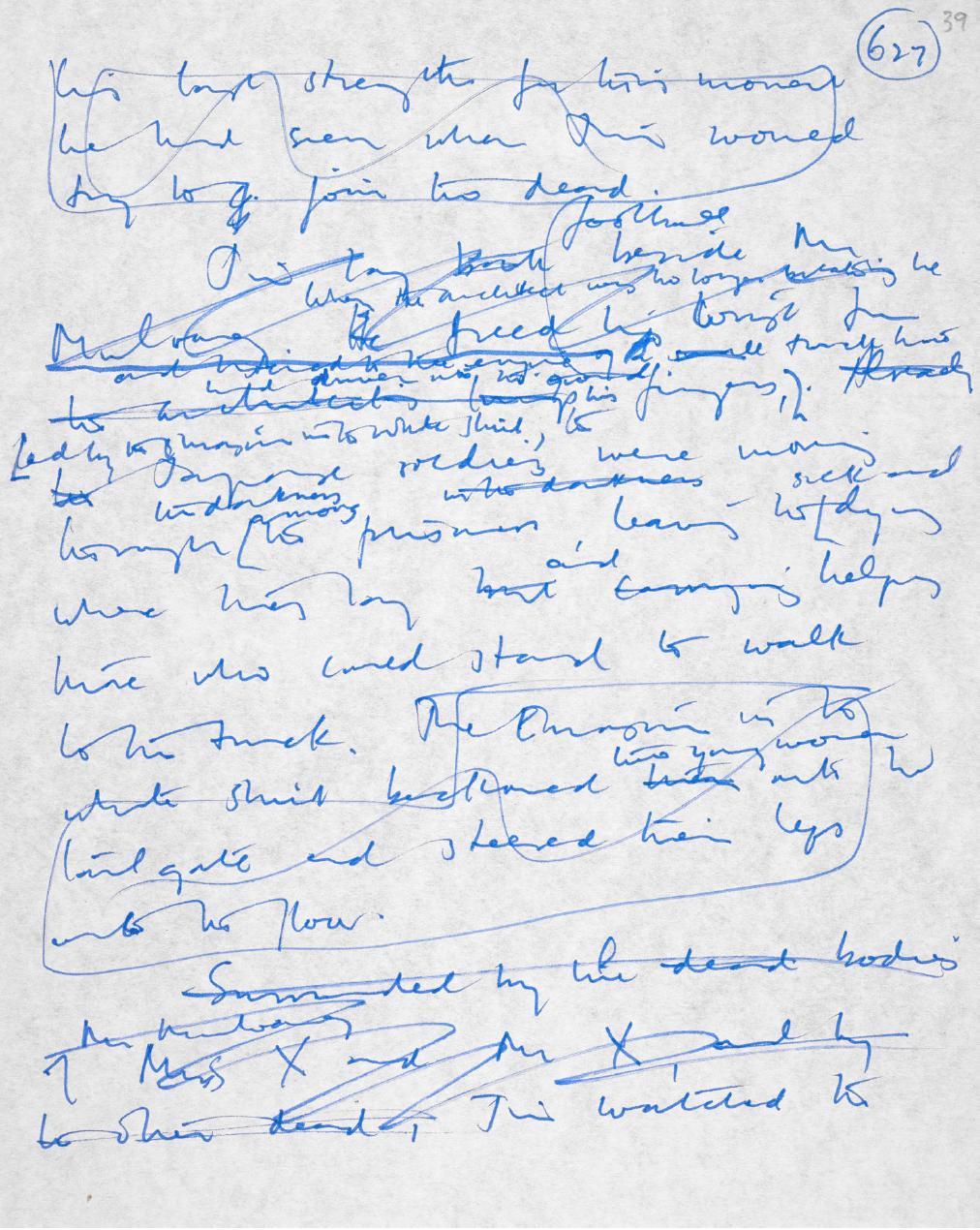 J·G·巴拉德手稿 The Papers of James Graham Ballard: 'The Empire of the Sun' (Autograph Manuscript): 627图源大英图书馆