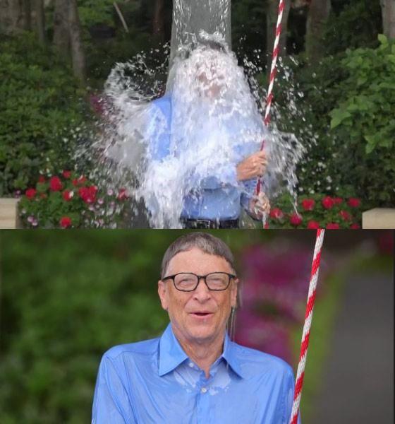 """比尔盖茨接受""""冰桶挑战"""""""