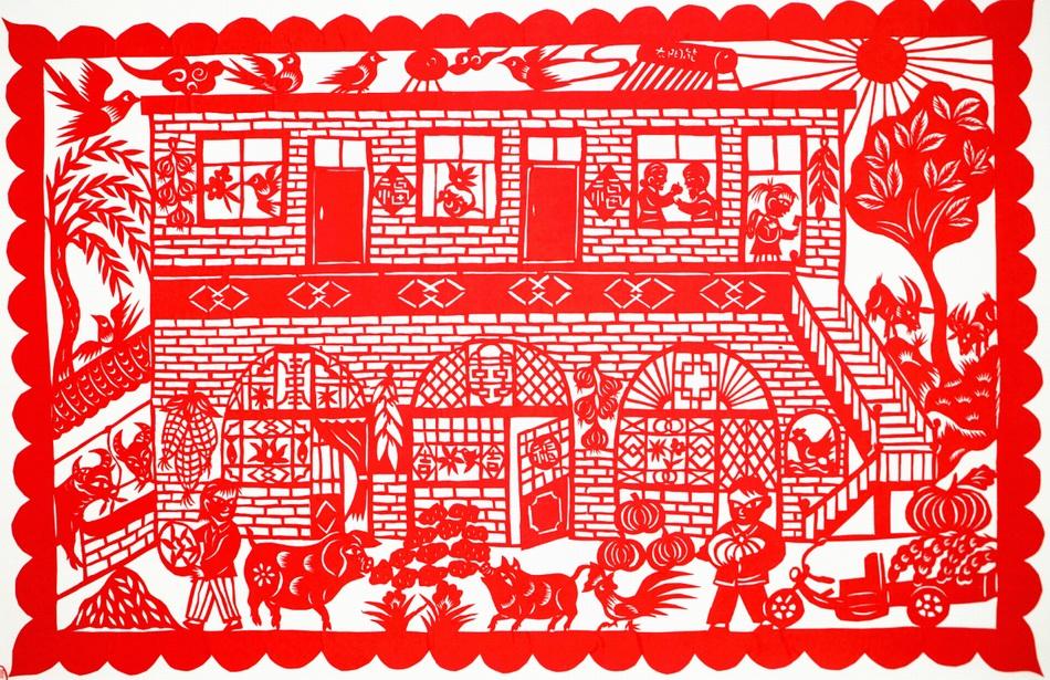 剪纸图片由中阳武小汾剪纸工作室提供。
