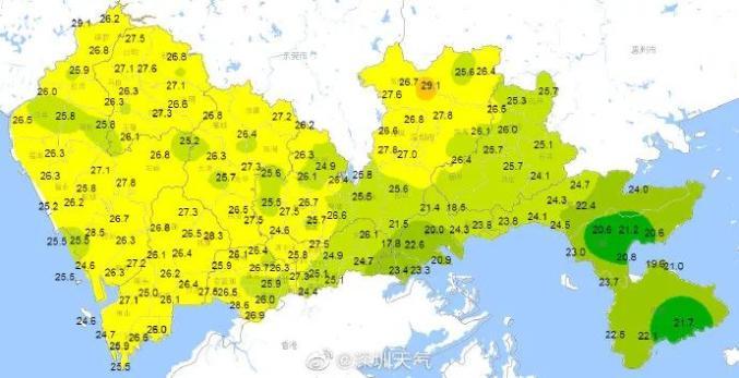 深圳24日15时左右气温图片