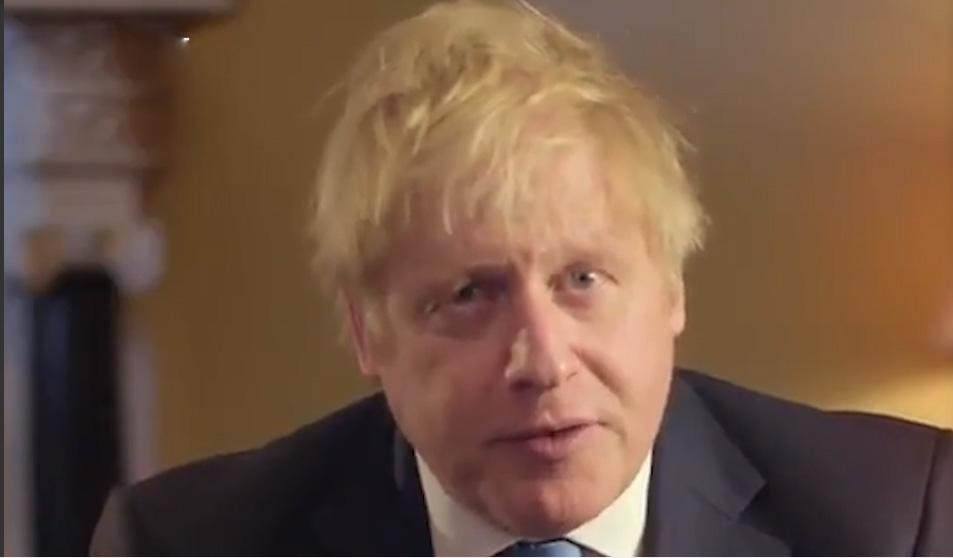 当地时间1月31日22时,距离英国正式脱欧还有1小时,首相约翰逊发表全国讲话,表示国家将迎来复兴变革时代。 截屏图