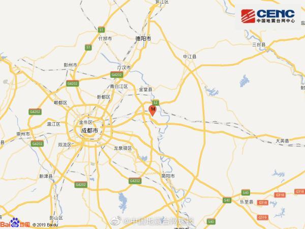 四川成都青白江区发生5.1级地震,尚无人员伤亡报告