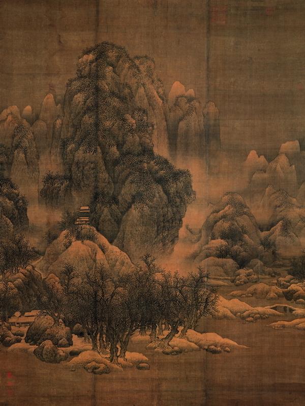 天津博物馆藏范宽《雪景寒林图轴》