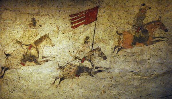 章怀太子墓壁画局部