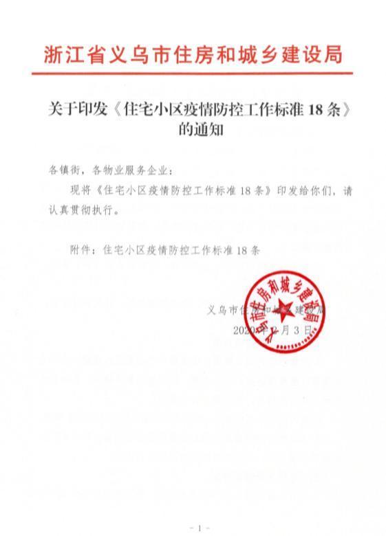 im体育:义乌发布小区疫情防控标准:封闭式管理、废弃口罩定点投放