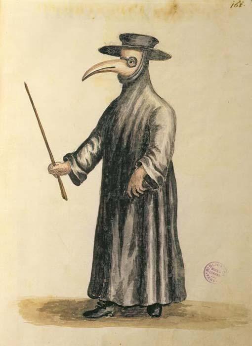 18世纪,Giovanni Grevembroch画笔下的瘟疫医生