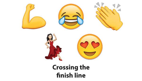 这个妹子的emoji表情火了!你的跑步心情就是这样吧