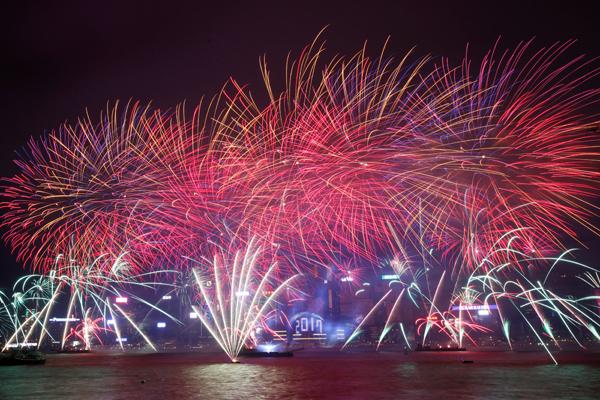 直击2017年新年跨年活动