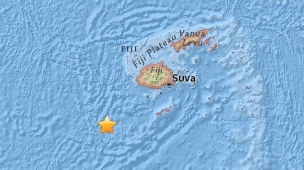 斐济群岛以南发生7.2级地震