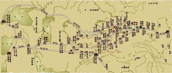 市政厅  丝绸之路重要城镇关隘示意(新疆维吾尔自治区测绘局)图片