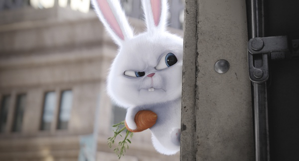 《爱宠大机密》中的反派疯兔子雪球
