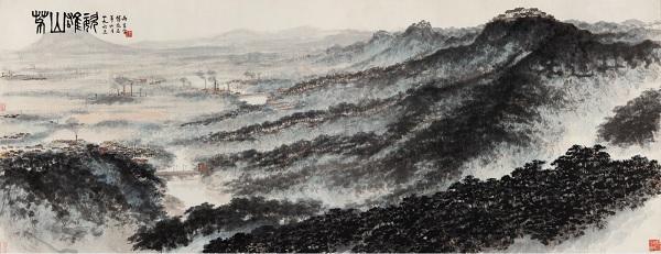 傅抱石生前最后一幅山水巨作《茅山雄姿》将亮相上海