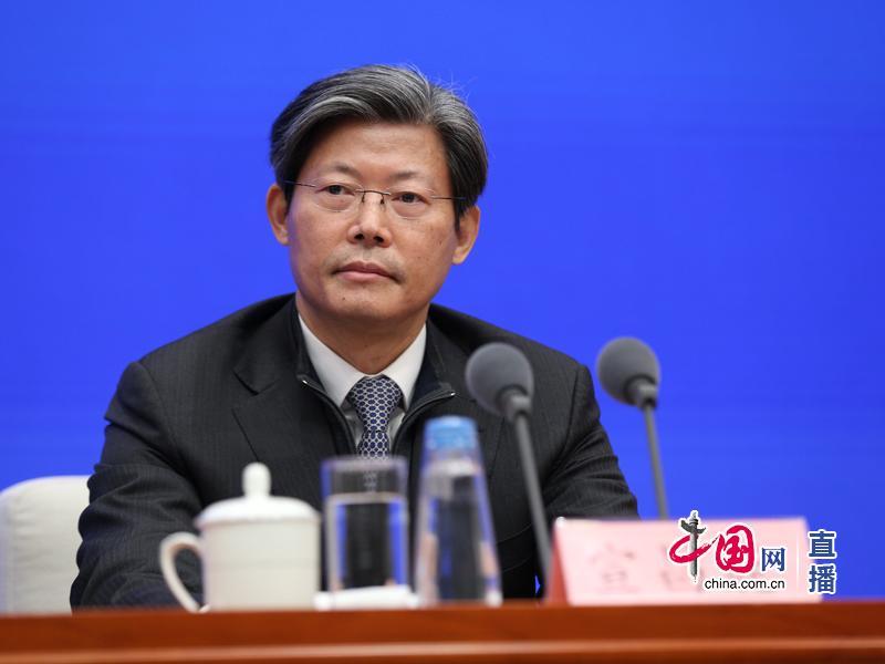 外汇局副局长宣昌能在发布会上。 中国网 图