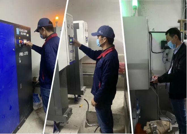 △奥吉赛工程师对设备及监控系统进行最后调试工作