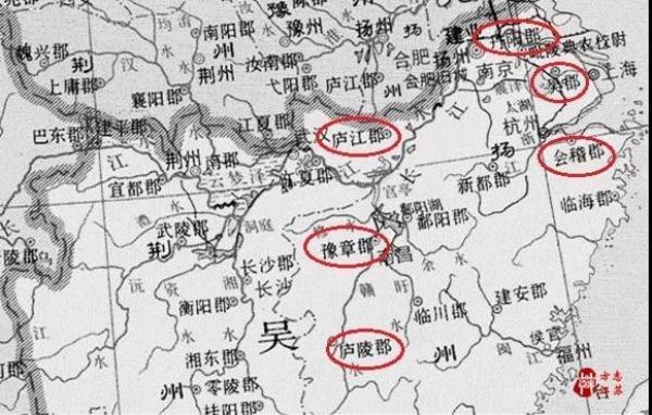 三国时期的江东六郡