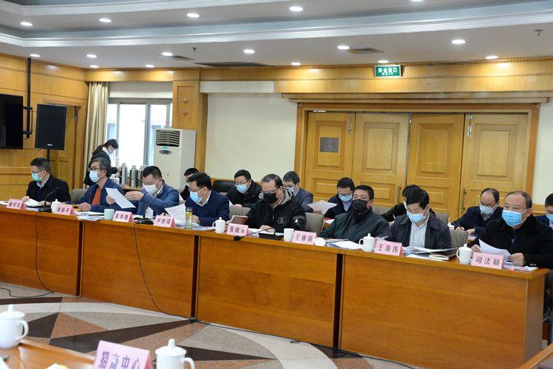 青田县人民当局常务集会会议专题听取2019年度法治当局建树事情