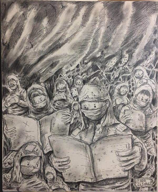 在绘画中等待:湖北湖南等地艺术青年的《封城日记》