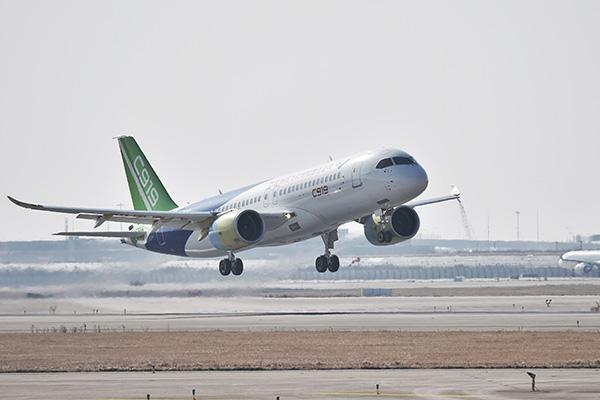 好消息!第二架国产大飞机C919首飞成功,最高飞行至15300英尺 新湖南www.hunanabc.com