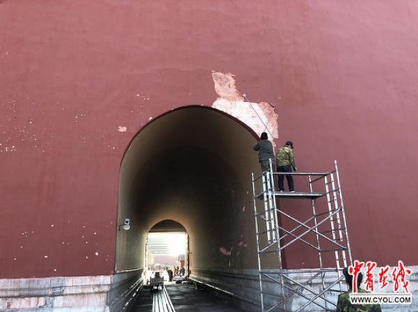 故宫午门墙皮被吹落:墙体冻胀空鼓遇强风,将按传统做法修缮