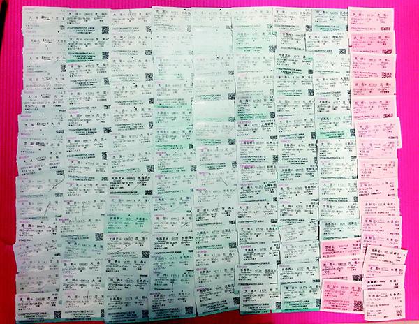 六和彩开奖大学女生晒140余张车票自述异地恋情:收获爱情不忘学习