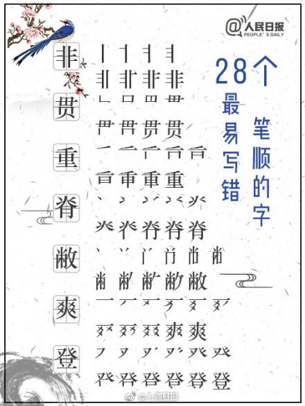 凸的笔画顺序图- 这些常用汉字笔顺,你写对了吗