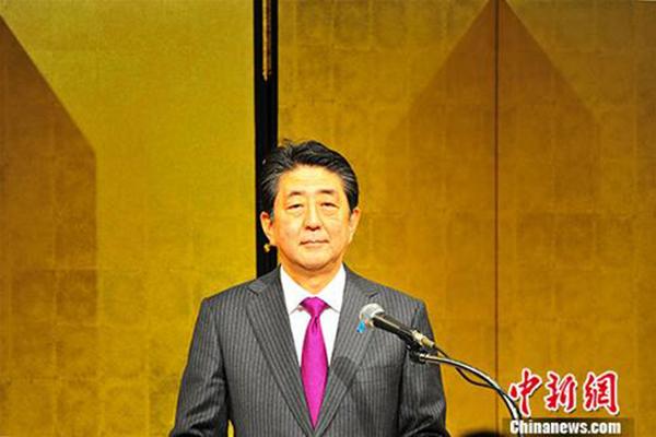 香港挂牌安倍向在日华侨华人贺新春:今年要使两国国民感受关系大改善