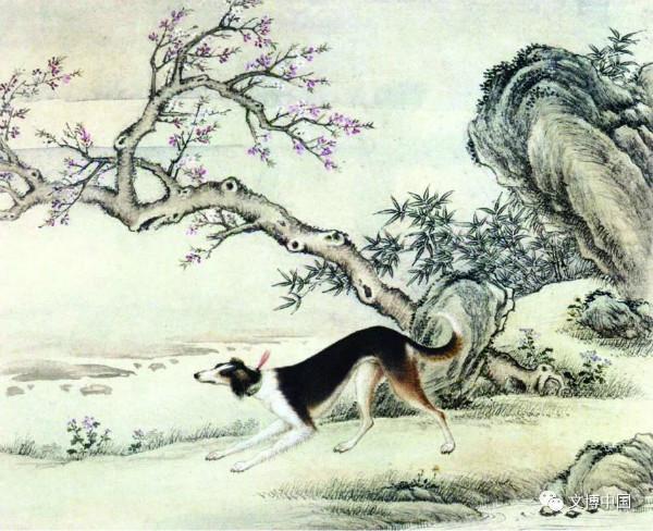 明日见�y�f_图14 (清)艾启蒙十骏犬图册之漆点猣页