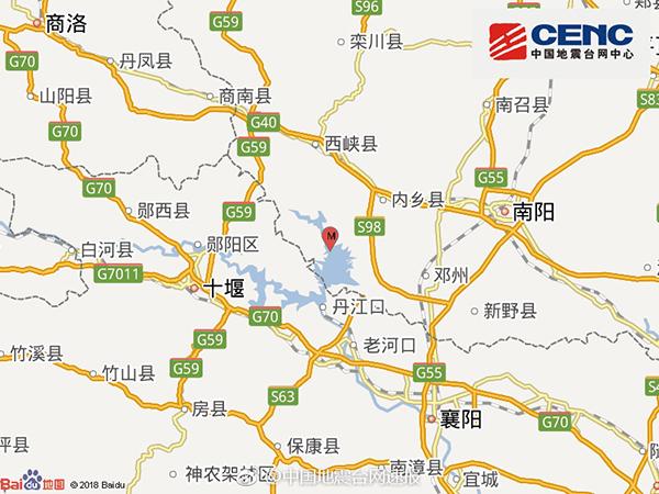 河南南阳淅川发生4.3级地震,省民政厅:暂未收到灾情报告