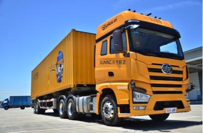 苏宁完成L4级别无人重型卡车测试,可自主避障和开高速公路