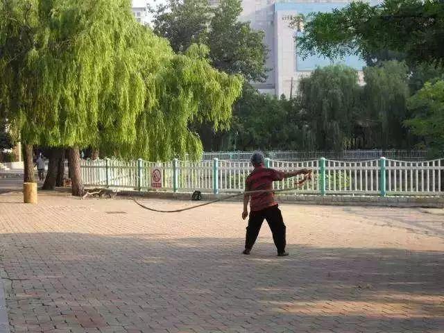 小区健身藏龙卧虎!怪不得老外觉得中国人人都会武功