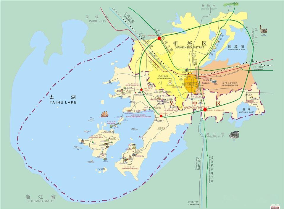 """时隔17年""""太湖""""有望回归拟苏州政区名称,拟新设太湖街道图片"""