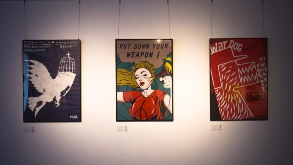《南京国际和平海报双年展》巡展走进黑河瑷珲历史陈列馆